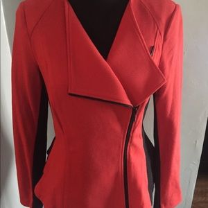 Comfortable Blazer. Red and Black. Size M.